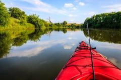 Pescando sul lago Immagini Stock Libere da Diritti