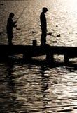 Pescando sul lago Windermere Immagine Stock Libera da Diritti