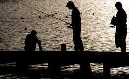 Pescando sul lago Windermere Fotografia Stock