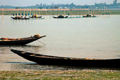 Pescando a Sunderban Fotografie Stock Libere da Diritti