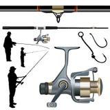 Pescando vetor ajustado Foto de Stock Royalty Free