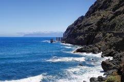 Pescante de Hermigua, losu angeles Gomera wyspa, Hiszpania Zdjęcie Stock
