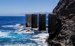 Pescante de Hermigua, losu angeles Gomera wyspa, Hiszpania Obrazy Stock
