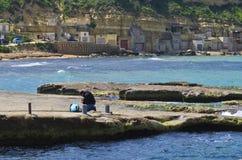Pescar prepara a engrenagem Imagens de Stock