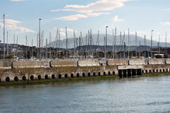 Pescara harbour Royalty Free Stock Images