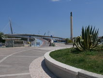 Pescara - havsbro Arkivfoton