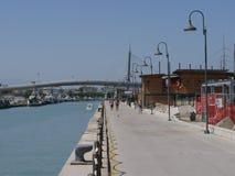 Pescara - havsbro Royaltyfri Foto