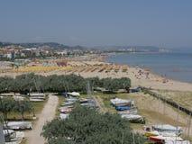 Pescara - havsbro Arkivbilder