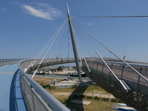 Pescara - havsbro Royaltyfri Bild