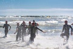 Pescara, Italie - 18 juin 2017 : Partir pour l'essai o de natation images libres de droits