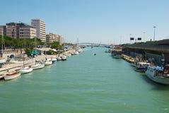 Pescara, vue du Portocanale Photos stock