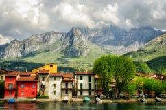 Pescarenico (Lecco Italië) Stock Afbeeldingen