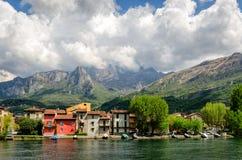 Pescarenico (Lecco Italien) Stockbild