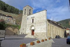 Pescasseroli kyrka Royaltyfri Fotografi