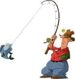 Pescatore illustrazione vettoriale