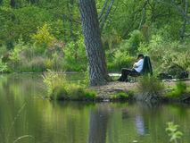 Pescatore addormentato Fotografia Stock
