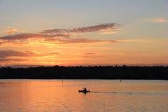 Pescatore al fiume di Noosa Immagine Stock Libera da Diritti