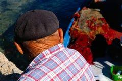 Pescatore anziano Fotografia Stock Libera da Diritti