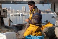Pescatore anziano Fotografie Stock