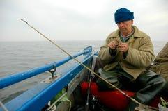 Pescatore anziano Immagini Stock