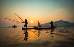 Pescatore Asia fotografia stock