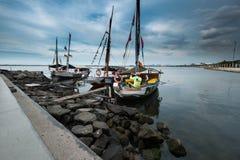 Pescatore bevente Fotografia Stock Libera da Diritti