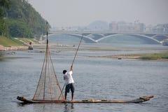 Pescatore cinese fotografia stock libera da diritti
