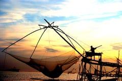 Pescatore dal lago Fotografie Stock