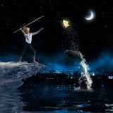 Pescatore del bambino Fotografia Stock