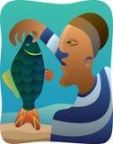 Pescatore del cubista Immagine Stock