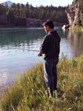 Pescatore del fiume Fotografie Stock Libere da Diritti