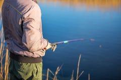Pescatore dell'uomo Immagini Stock