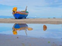 Pescatore della barca fotografia stock
