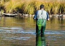 Pescatore della mosca Fotografie Stock Libere da Diritti