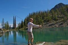 Pescatore della mosca Immagini Stock Libere da Diritti