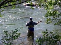 Pescatore della mosca Fotografia Stock Libera da Diritti