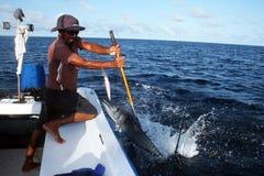 Pescatore delle Maldive Fotografia Stock