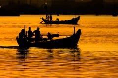 Pescatore di mattina Immagini Stock