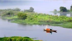 Pescatore di mattina Immagini Stock Libere da Diritti