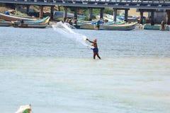 Pescatore di pesca fotografie stock libere da diritti