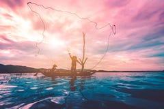Pescatore e figlio Fotografie Stock Libere da Diritti