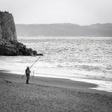 Pescatore Foto in bianco e nero di Pechino, Cina Immagine Stock