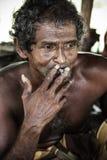 Pescatore a Galle, Sri Lanka Immagini Stock
