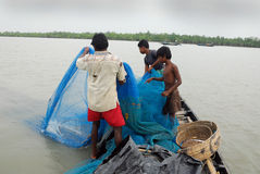 Pescatore indiano Immagine Stock