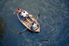 Pescatore indiano sul lavoro Immagine Stock Libera da Diritti