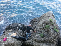 Pescatore in Italia Fotografie Stock