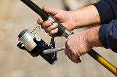 Pescatore laborioso Fotografia Stock