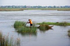 Pescatore locale nel Vietnam Fotografia Stock