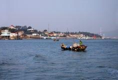 Pescatore, mare di Xiamen Cina Fotografia Stock Libera da Diritti