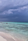Pescatore nei Cochi di Cayo Fotografia Stock